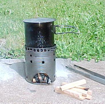 Homemade camping wood stove for Diy camp stove