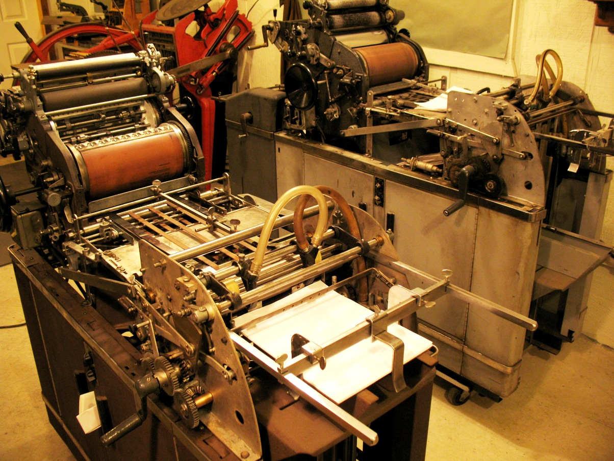 Sell and buy new and used printing equipment Pictures of the printing press